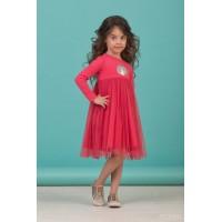 Сукня з довгим рукавом червона