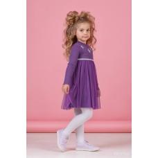 Сукня з довгим рукавом фіолетова