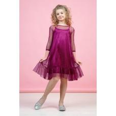 Сукня Вуаль бордо