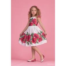 Сукня з принтом троянд